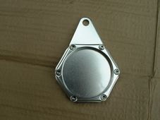 Tax disc holder, hexagonal type, silver